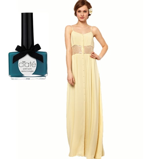 If your bridesmaid dress has some color and flair, like Ciaté's Headliner Polish Pot ($15) for a nice contrast.