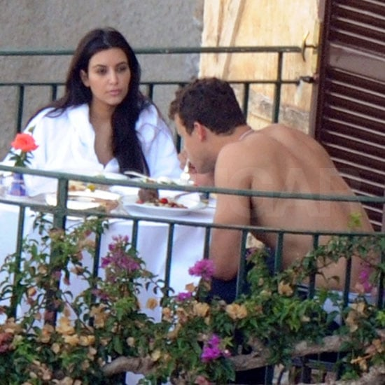 Kim and Kris dined together al fresco.