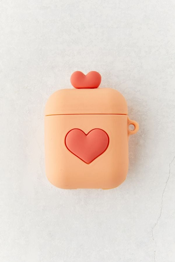 Urban Outfitters Heart-Shaped Silicone AirPods Case