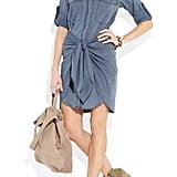 A fun spin on the denim dress.  Etoile Isabel Marant Qimi Chambray Shirt Dress ($405)