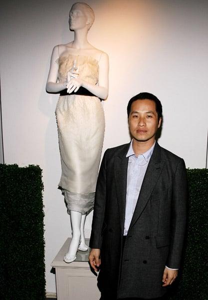 Designer Philip Lim poses by his wedding dress