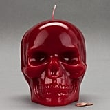 Large Red Skull Candles