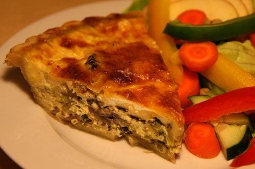 Healthy Recipe: Broccoli Mushroom Leek Quiche