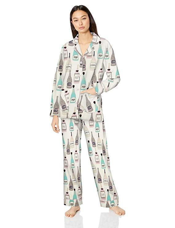 PJ Salvage Cozy Printed Flannel Pajama Set