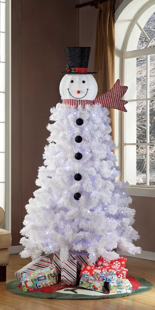 snowman christmas trees popsugar family