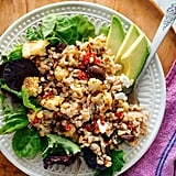 Easy Vegetarian Recipe: Roasted Cauliflower and Farro Salad With Feta and Avocado