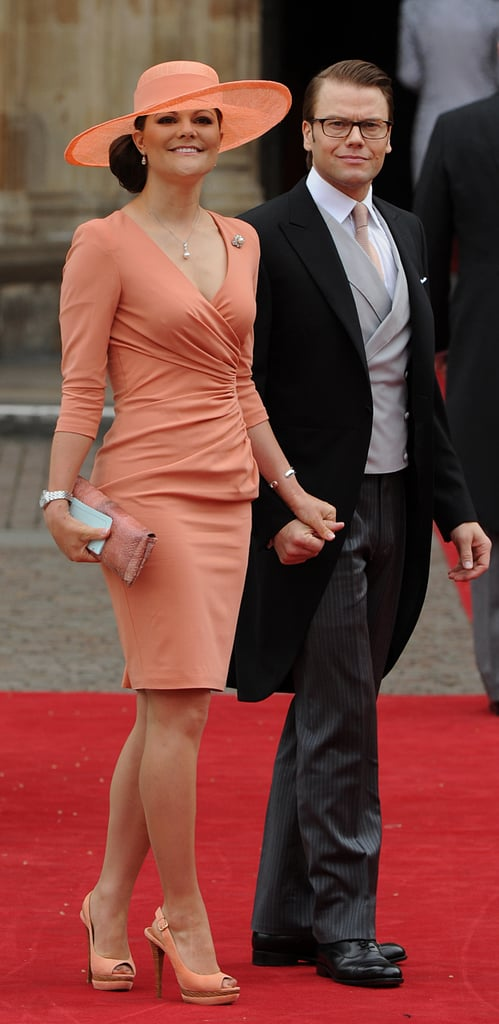 Princess Victoria Can Make a Peach Monochrome Outfit Appear Modern