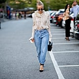 Add Boyfriend Jeans to Your Frilliest Top