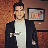 Zachary Quinto stopped by Conan. Source: Instagram user teamcoco