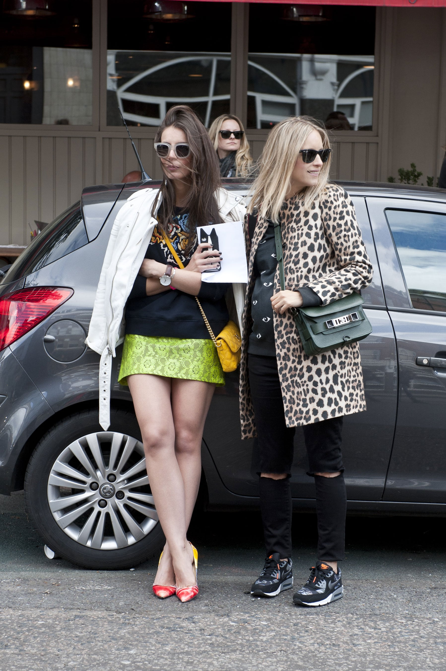 One look and you know this on-trend pair must be headed to Fashion Week.