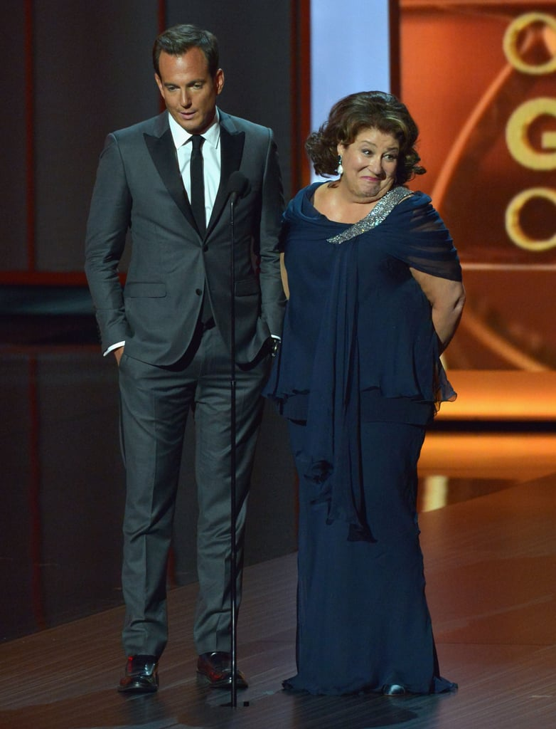 Margo Martindale joked around with Will Arnett when they presented together at the Emmys.