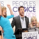 Anna Faris and Allison Janney couldn't hide their enthusiasm while announcing the nominees for the 2015 People's Choice Awards with Dylan McDermott in LA on Tuesday. The duo's CBS show Moms nabbed a nomination.