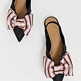 ASOS Lips Bow Slingback Ballet Flats