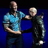 Dwayne Johnson and Jason Statham showed off their bromance at CinemaCon 2019 in Las Vegas.