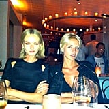 Annabella Barber and Lucy Taffs struck a serious pose at Icebergs in Bondi. Source: Instagram user annabellabarber