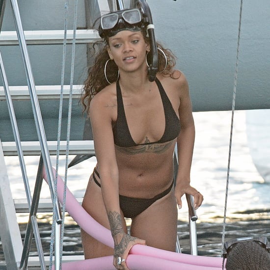 Rihanna Wearing a Black Bikini in Barbados | Pictures