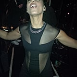 Alicia Keys tweeted a photo after she stepped off stage. Source: Twitter user AliciaKeys