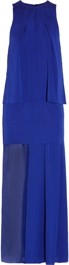 We'd wear this cobalt-blue dress to a black-tie wedding for an unexpected pop of color.  Acne Barika Tiered Maxi Dress ($440)