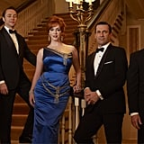 Robert Morse, Vincent Kartheiser, Christina Hendricks, Jon Hamm, and John Slattery on Mad Men.