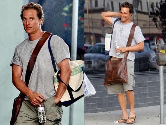 Father-to-Be Matthew McConaughey Leaves a LA Studio