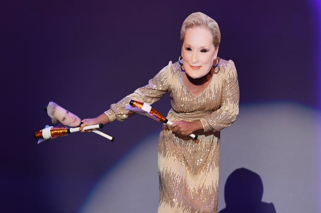 Dancer in Meryl Streep Mask at the 2019 Emmys
