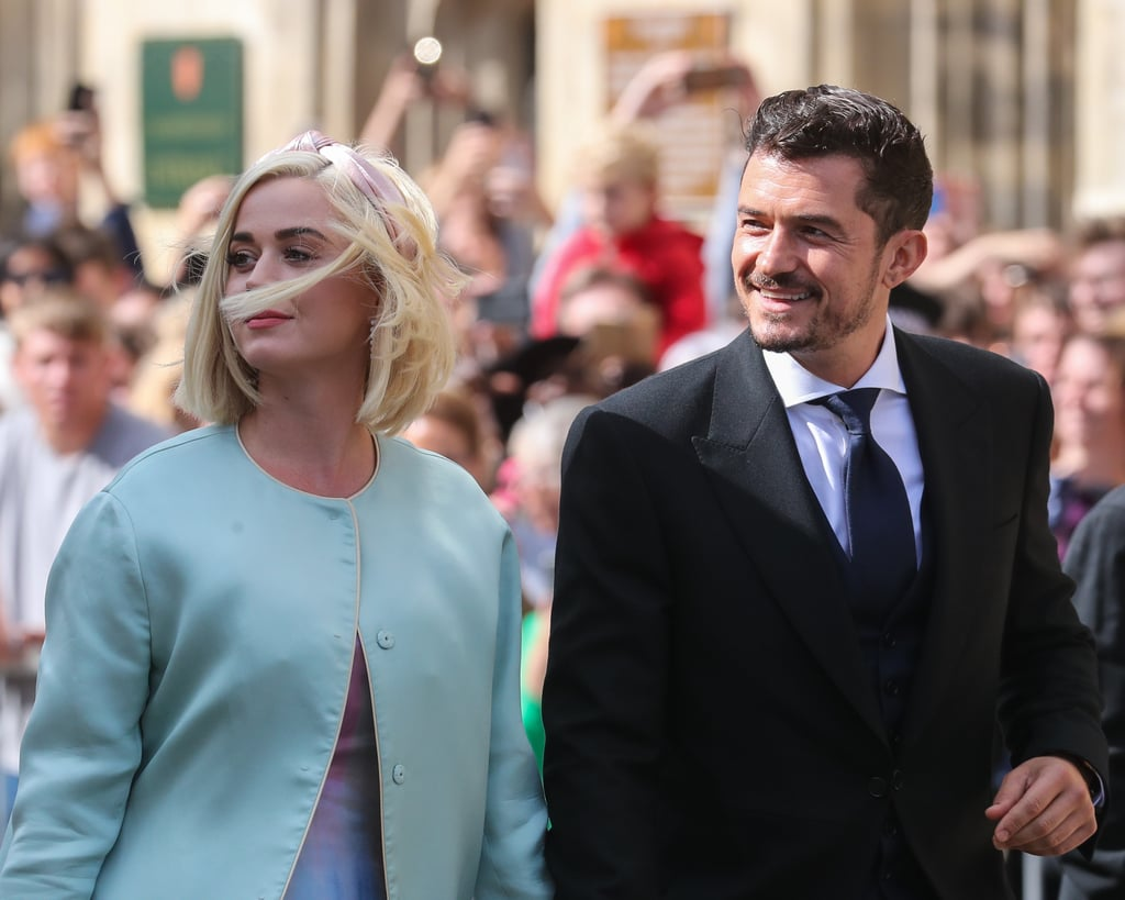 August 2019: Katy and Orlando Attend Ellie Goulding's Wedding