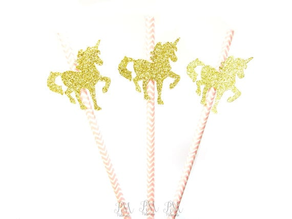 Unicorn Straws