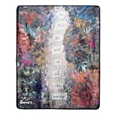 Blanket With Poem and Painting Design