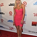 Genevieve Morton wore a bright pink frock.