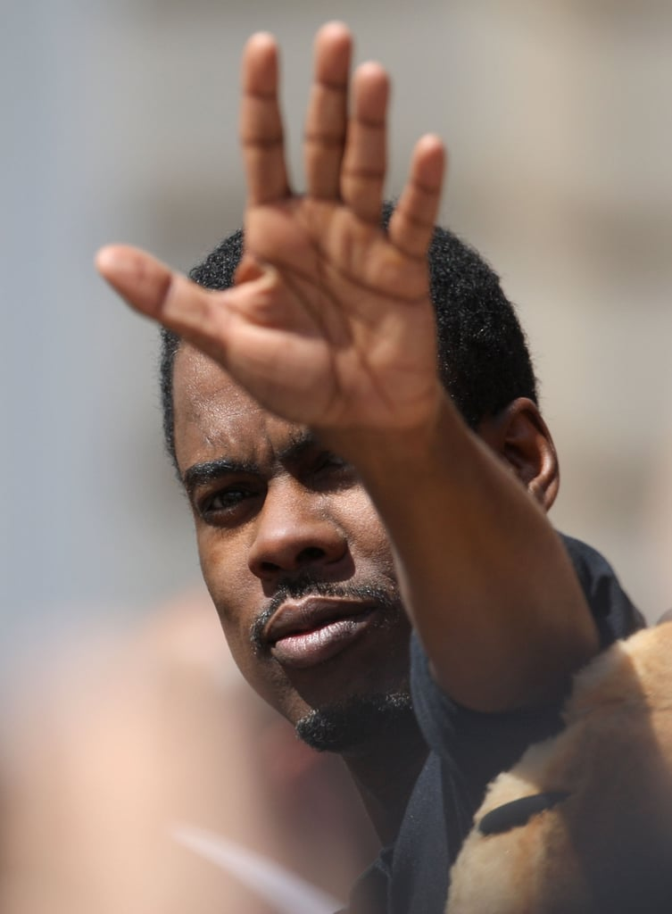 Chris Rick waved to crowds at the Cannes Film Festival.