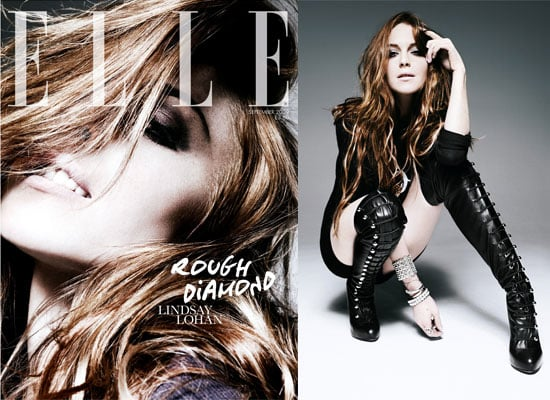 Lindsay Lohan Cover and Photoshoot From Elle UK September 2009
