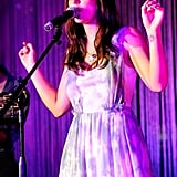 Leighton Meester performed at Tiffany & Co during the Fashion's Night Out event in 2011.