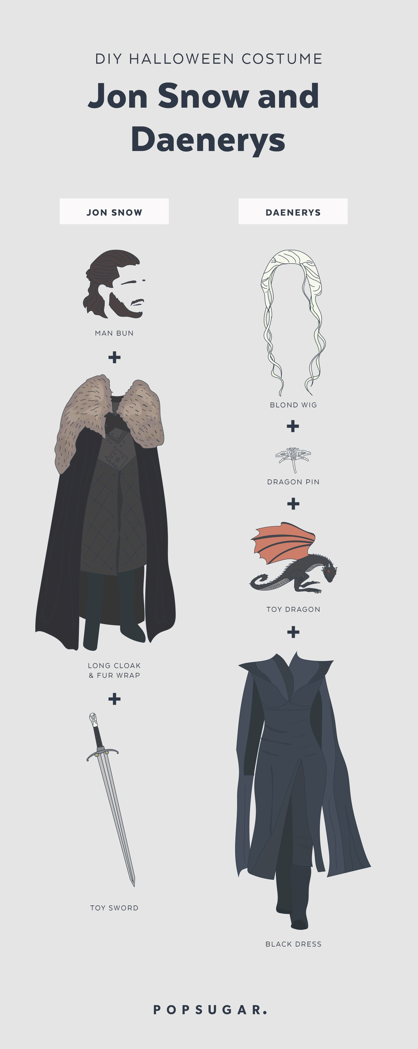 Jon snow and daenerys targaryen costume popsugar smart living check out the rest of our top 10 halloween costumes for 2017 solutioingenieria Choice Image