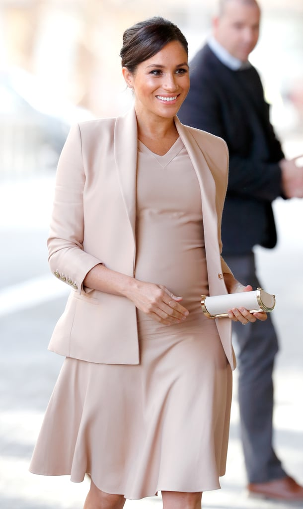 Meghan Markle wore a Brandon Maxwell look while visiting the National Theater for an event in 2019.