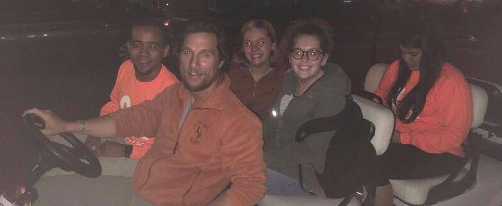 Matthew McConaughey Driving University of Texas Students