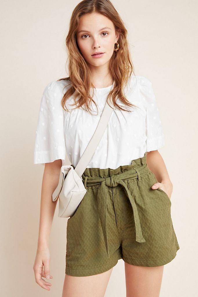 Amadi Rhys Textured Paperbag Shorts