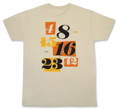 """Lost """"Numbers"""" Men's T-Shirt ($25)"""