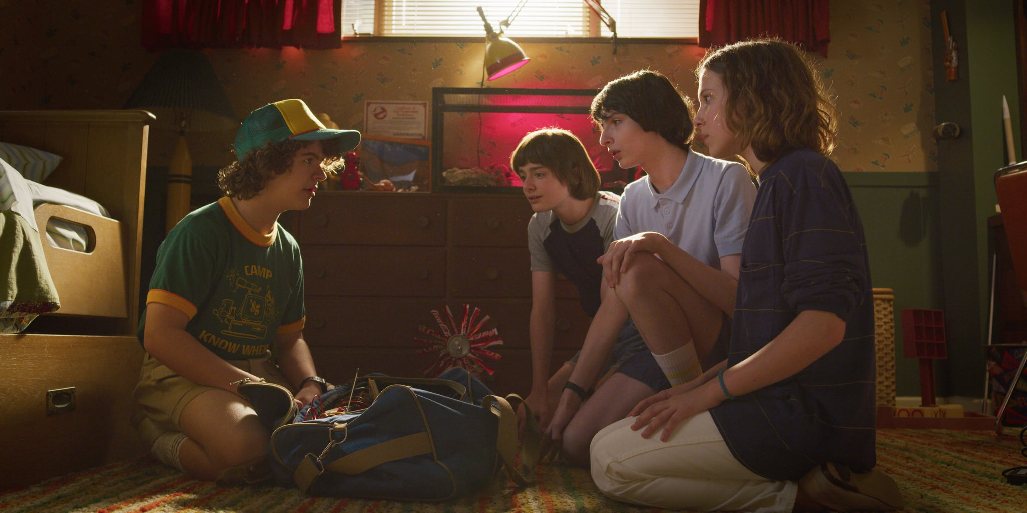 STRANGER THINGS, from left: Gaten Matarazzo, Noah Schnapp, Finn Wolfhard, Millie Bobby Brown, (Season 3, aired July 4, 2019), ph: Netflix / Courtesy Everett Collection