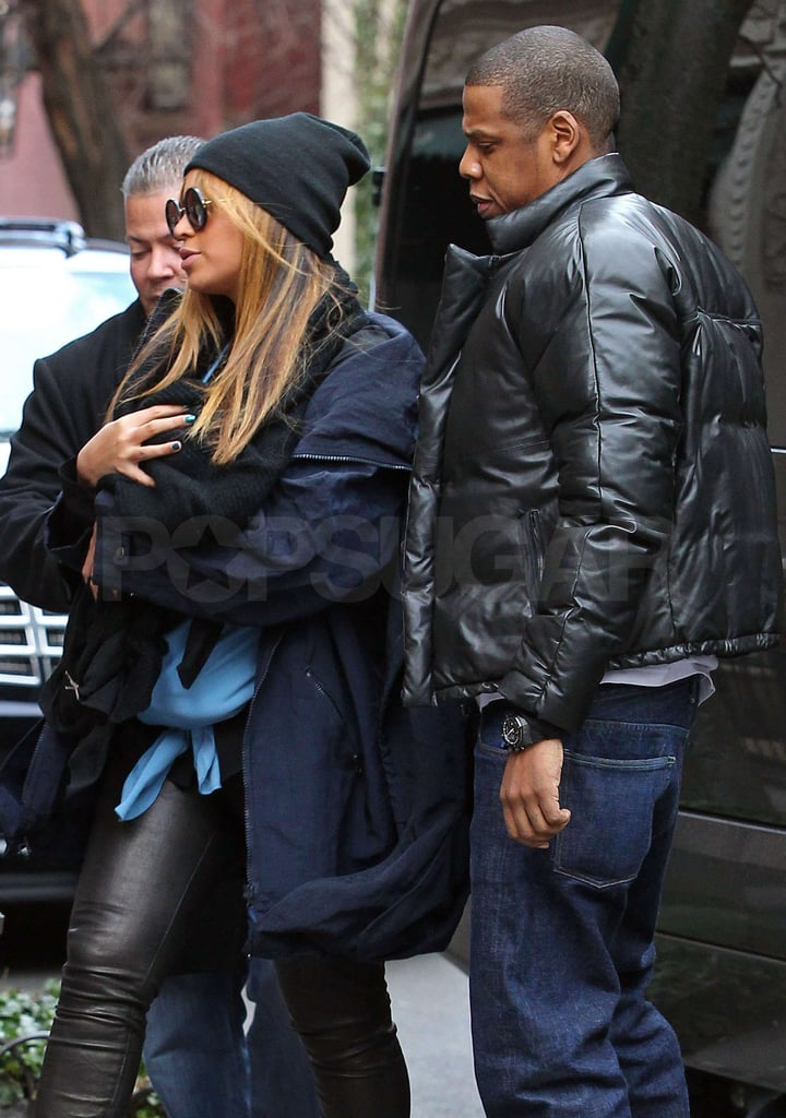 Jay-Z and Beyoncé Knowles took Blue Ivy Carter for a family lunch date.