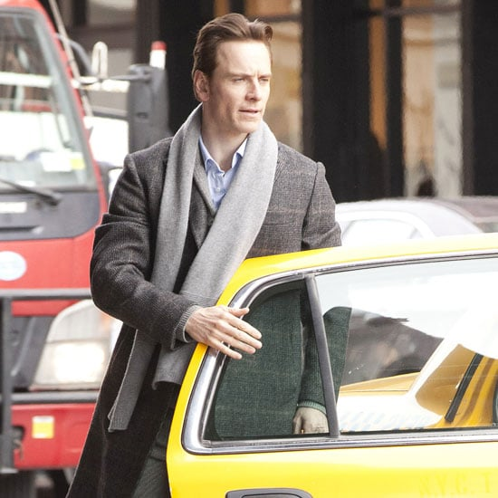 Pictures of Michael Fassbender Shooting Shameless in NYC