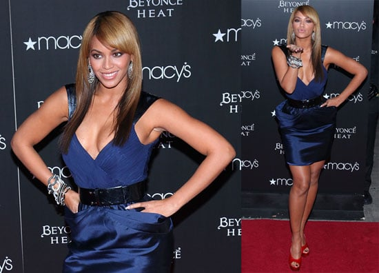 Photos of Beyonce Wearing a Blue Dress in NYC