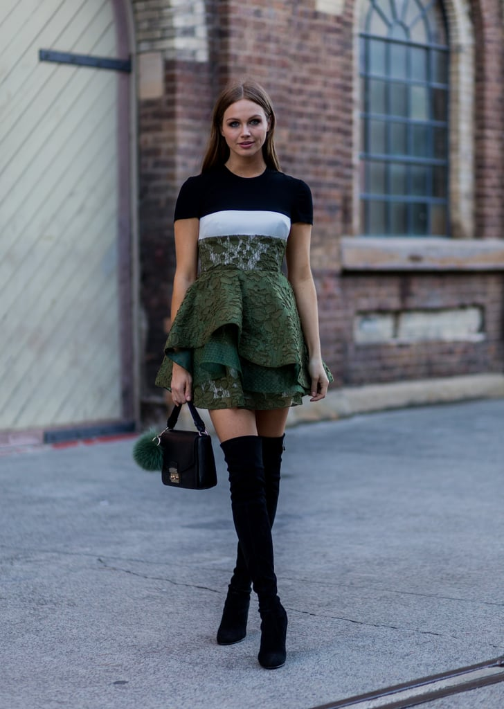 Give Your Fancy Dress a Street Style Update With an It Bag and Boots