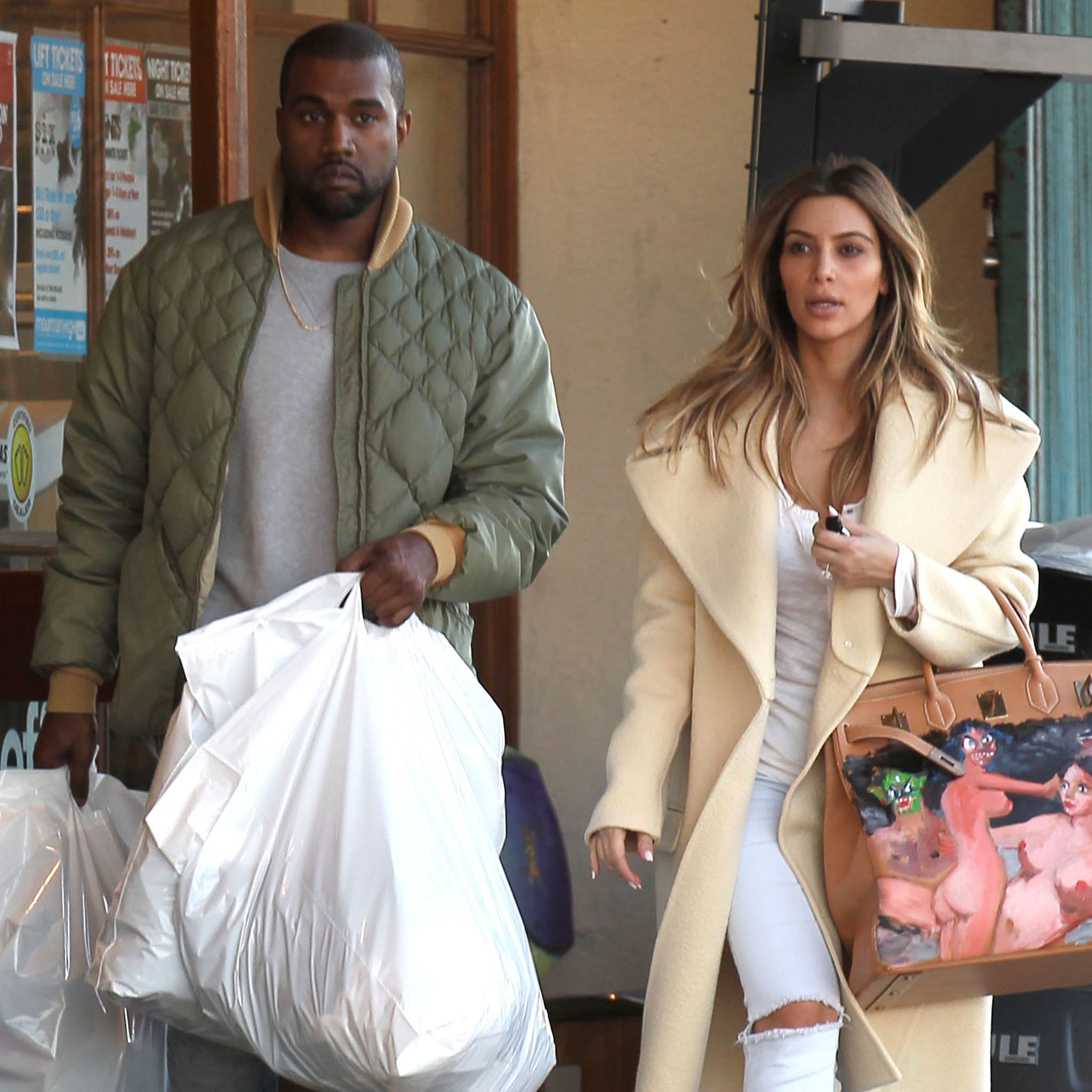 Kanye's Christmas Gift To Kim: An Hermès Birkin Bag Covered in NudePaintings