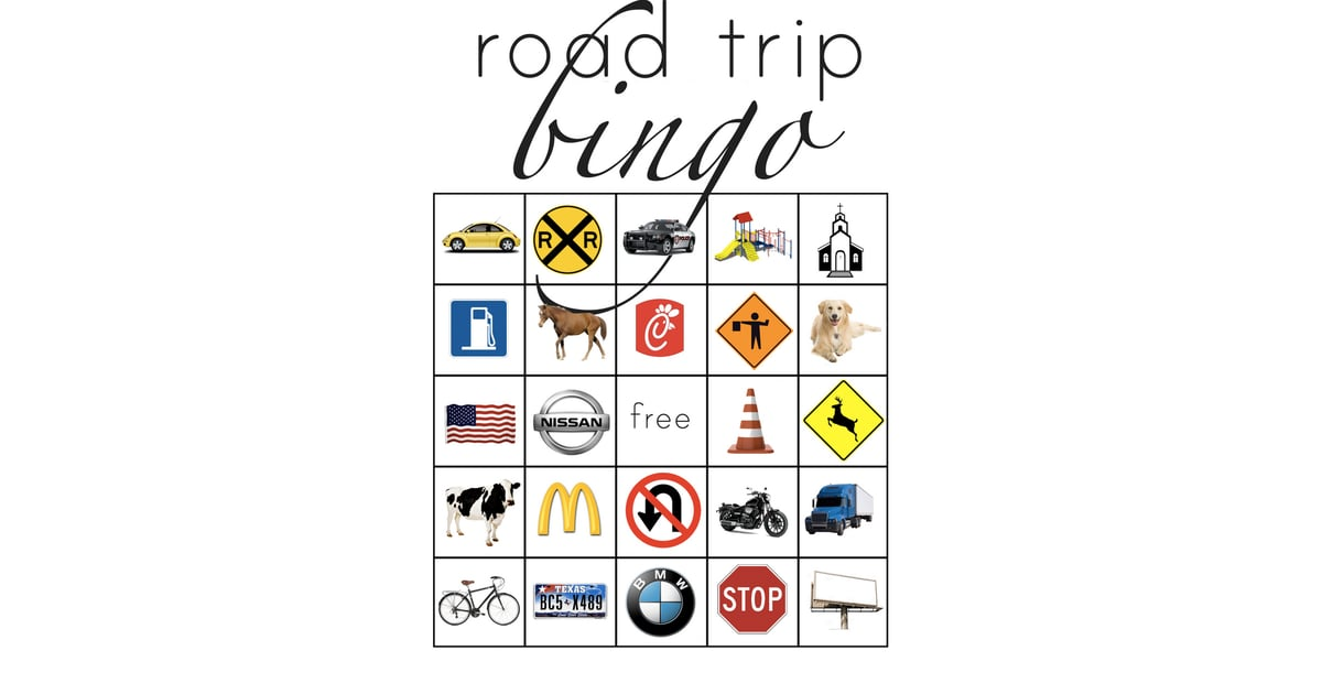 Road Trip Bingo | Road Trip and Car Games For Kids