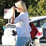 Cameron Diaz got her hair done.