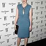 A soft blue sheath at a W magazine party in January 2011.