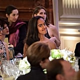 Malia and Sasha Obama at State Dinner 2016