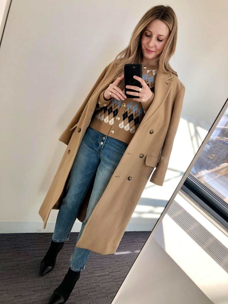 How I Styled My Straight-Leg Jeans: With A Cardigan, Coat, And Boots