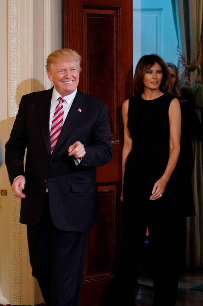 Melania Trump's Alexander McQueen Black Jumpsuit