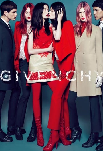 First Look: Givenchy Fall 2010 Ads with Ming Xi, Catherine McNeil, and Riccardo Tisci's Former Fit Model, Lea T.